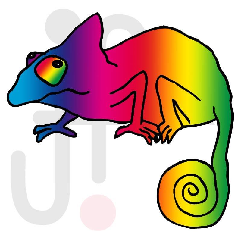 Chamäleon 004 farbig