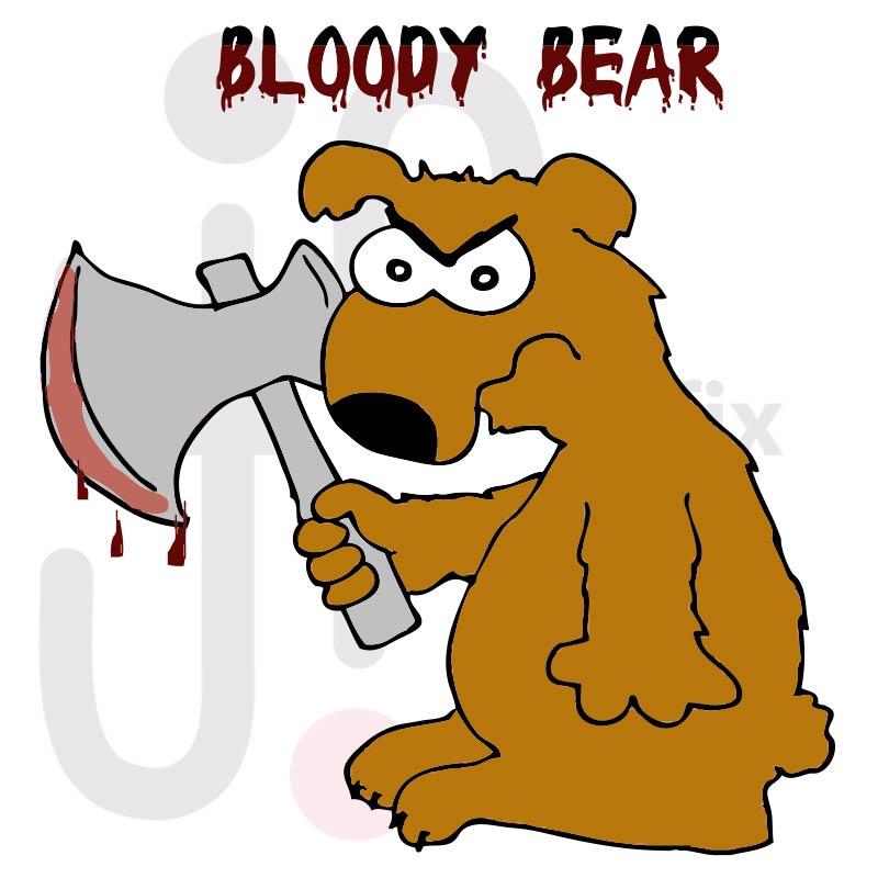 Böser Bär 001 farbig