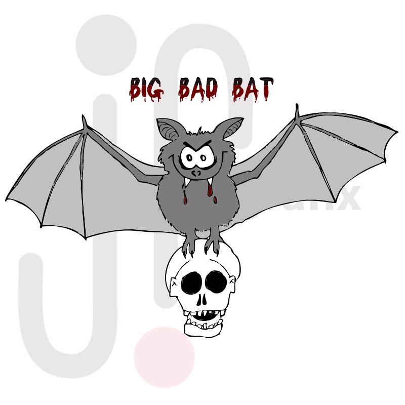 Böse Fledermaus 001 farbig