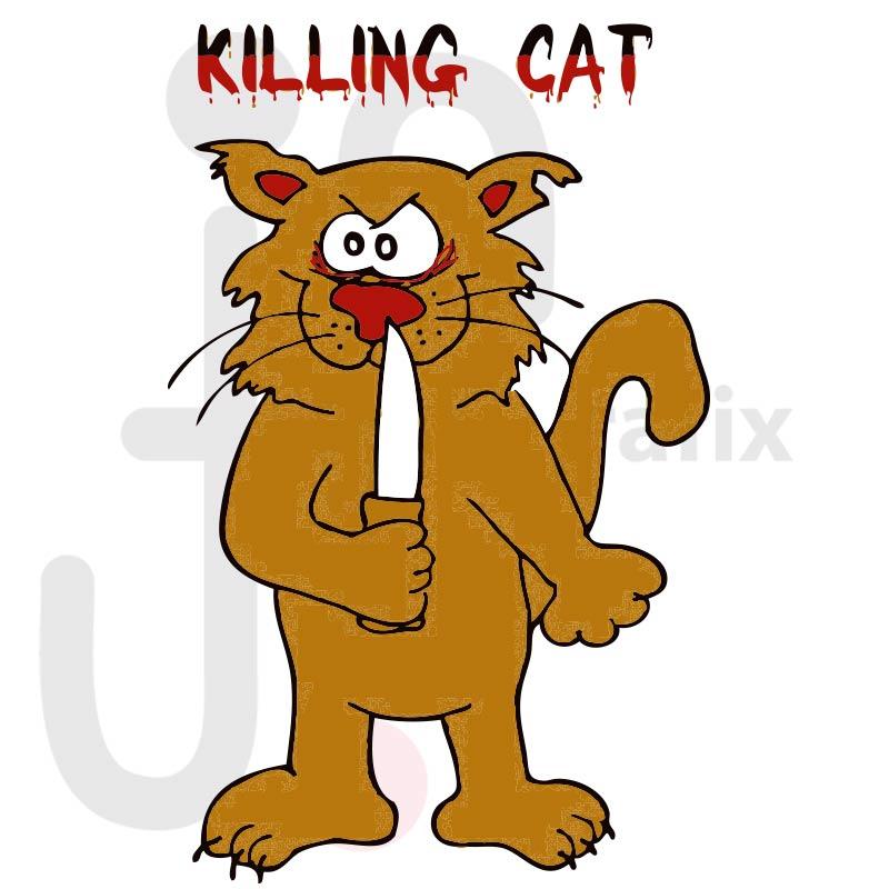 Böse Katze 001 farbig