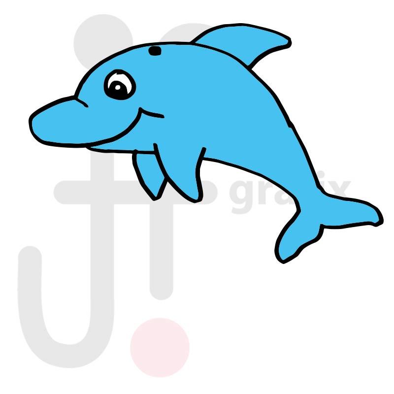 Delfin 002 farbig