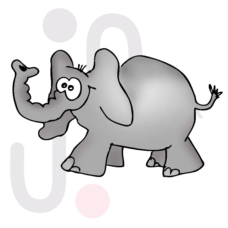 Elefant 001 farbig