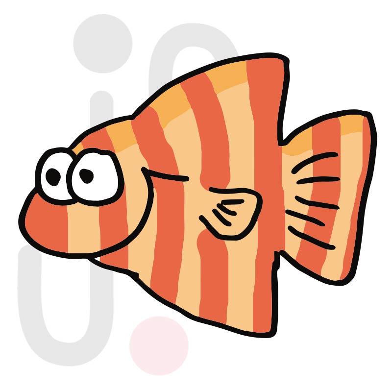 Fisch 013 farbig