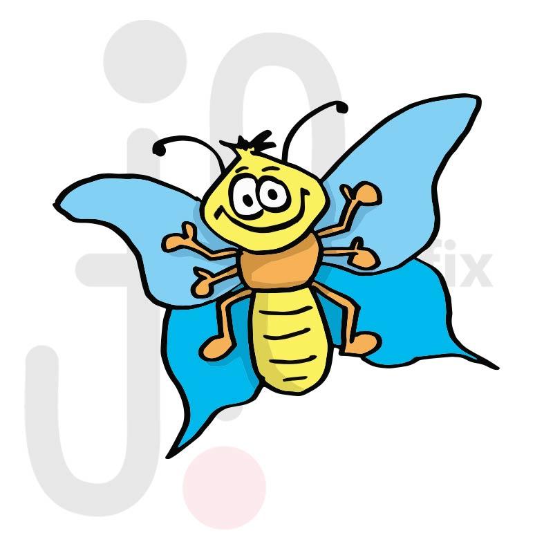 Schmetterling 008 farbig