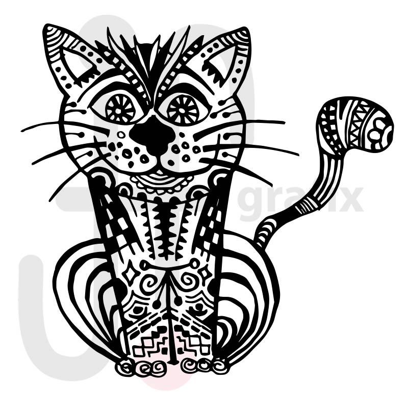 Katze Doodle 001
