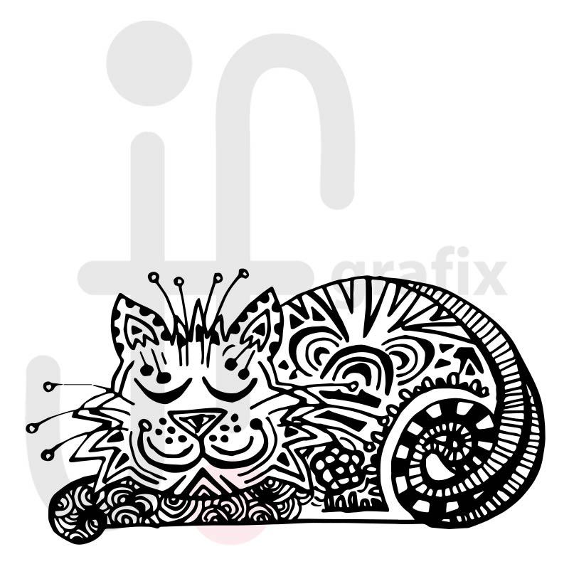 Katze Doodle 002