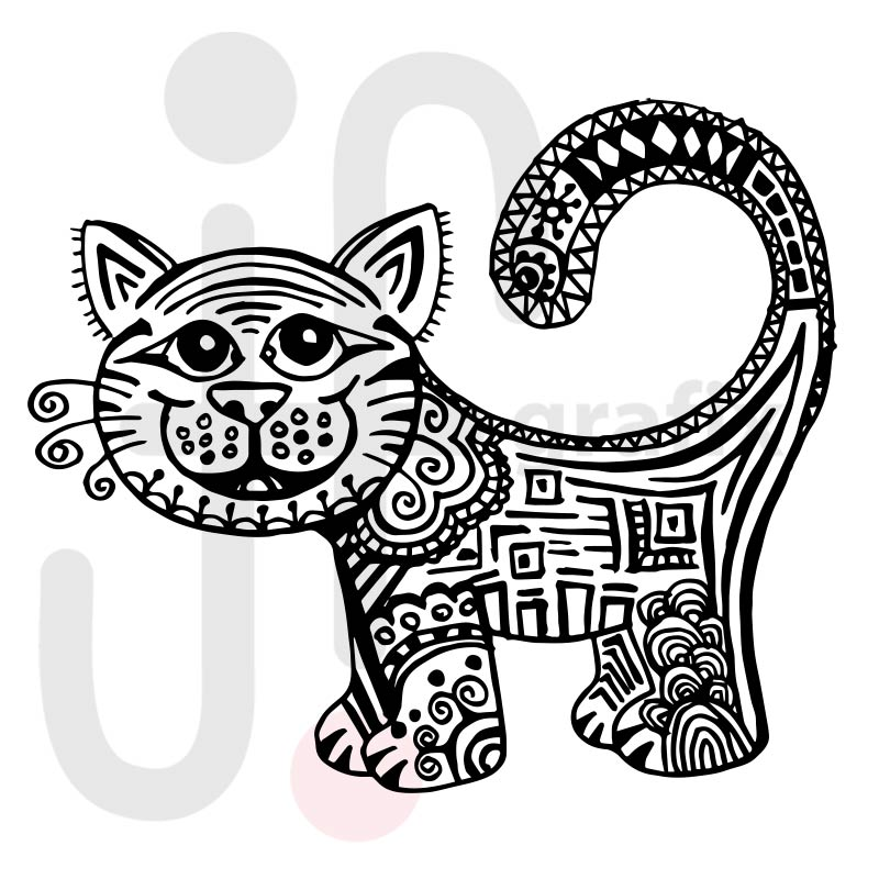 Katze Doodle 003