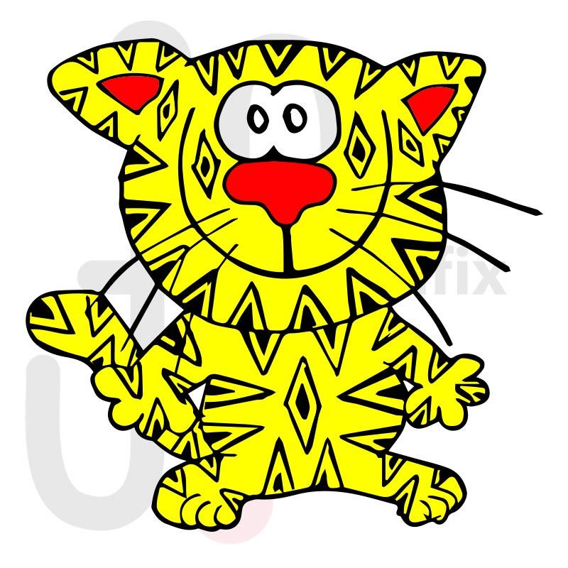 Katze 004 farbig