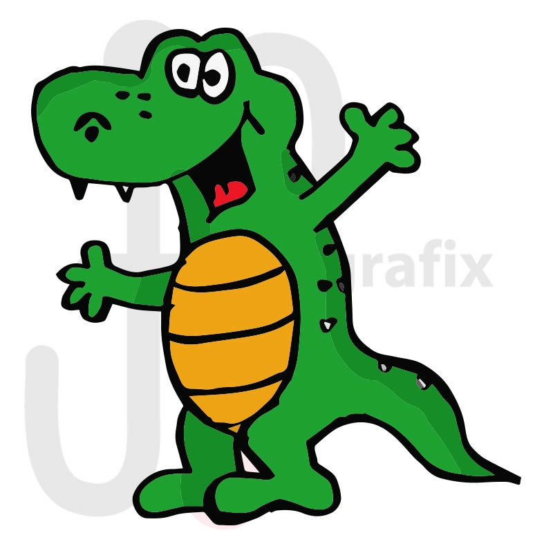 Krokodil 003 farbig
