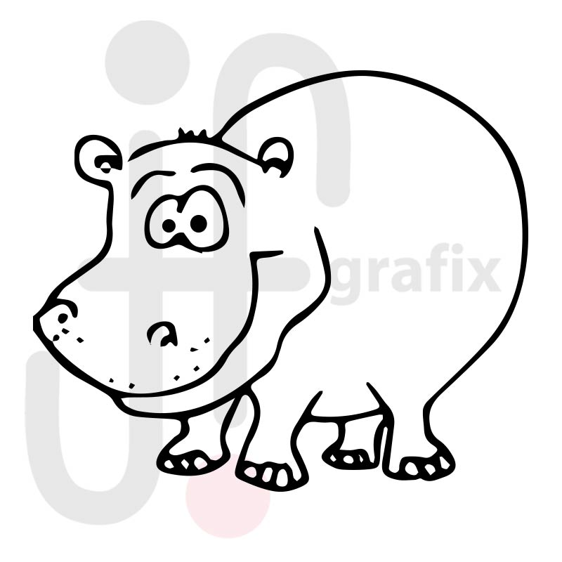 Nilpferd Zeichnung