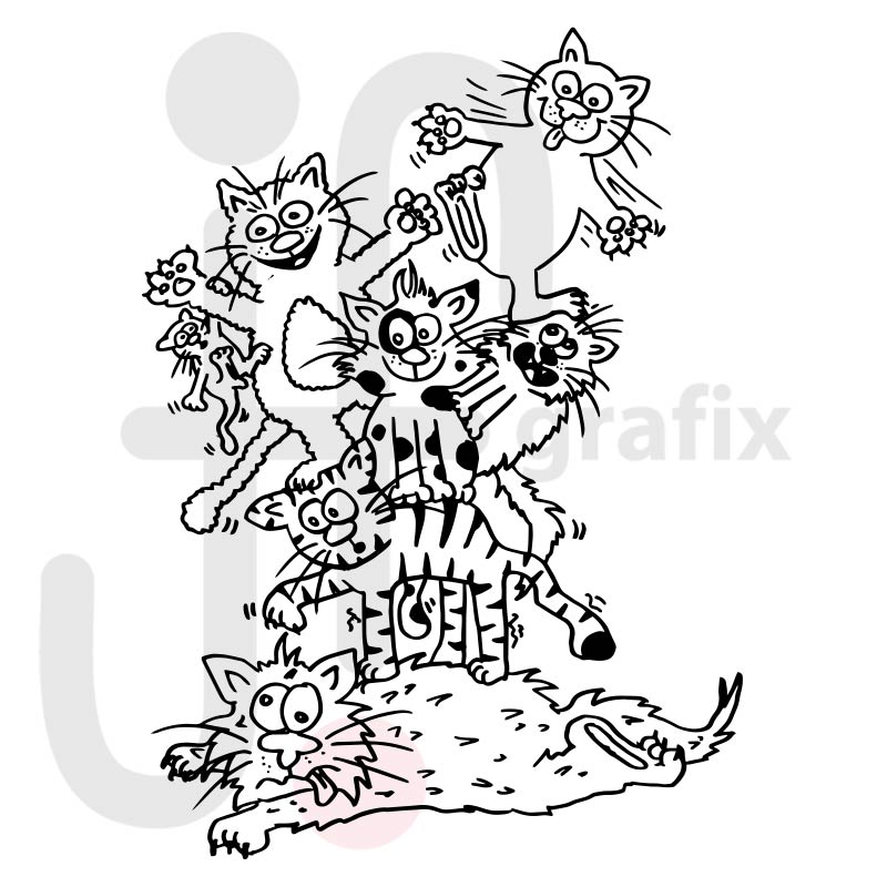 Wimmelbild Katzen 002