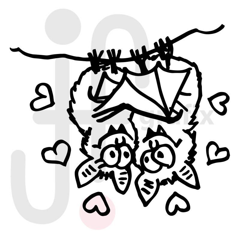 Valentinstag Fledermäuse 001
