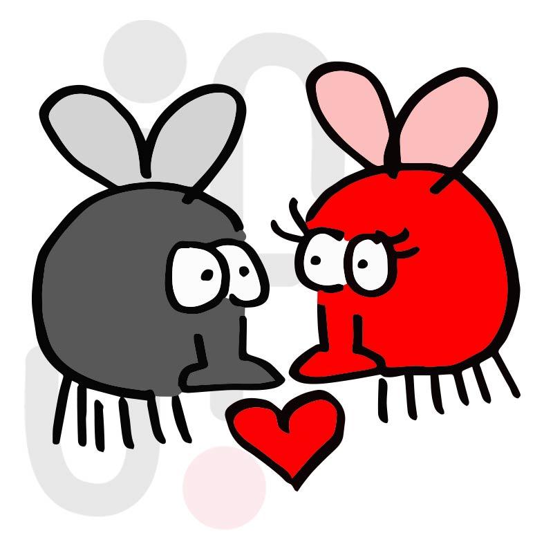 Valentinstag Fliegen 001 farbig